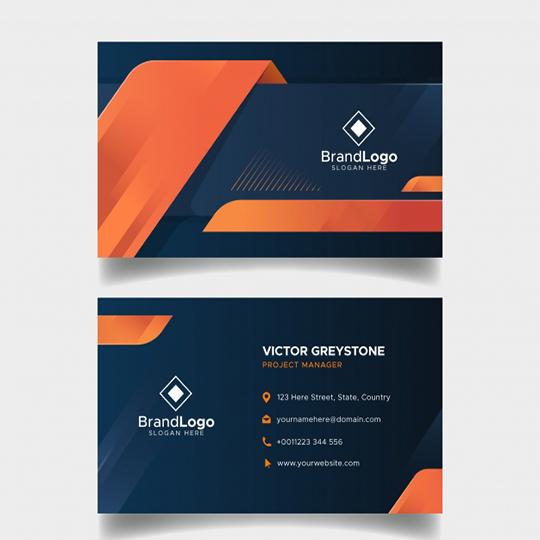 I will do 2 business card design