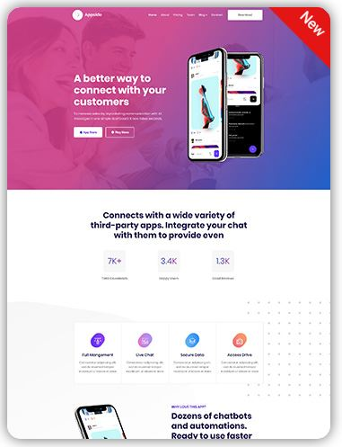 HTML Landing Page Template full responsive