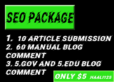 I will provide best seo package