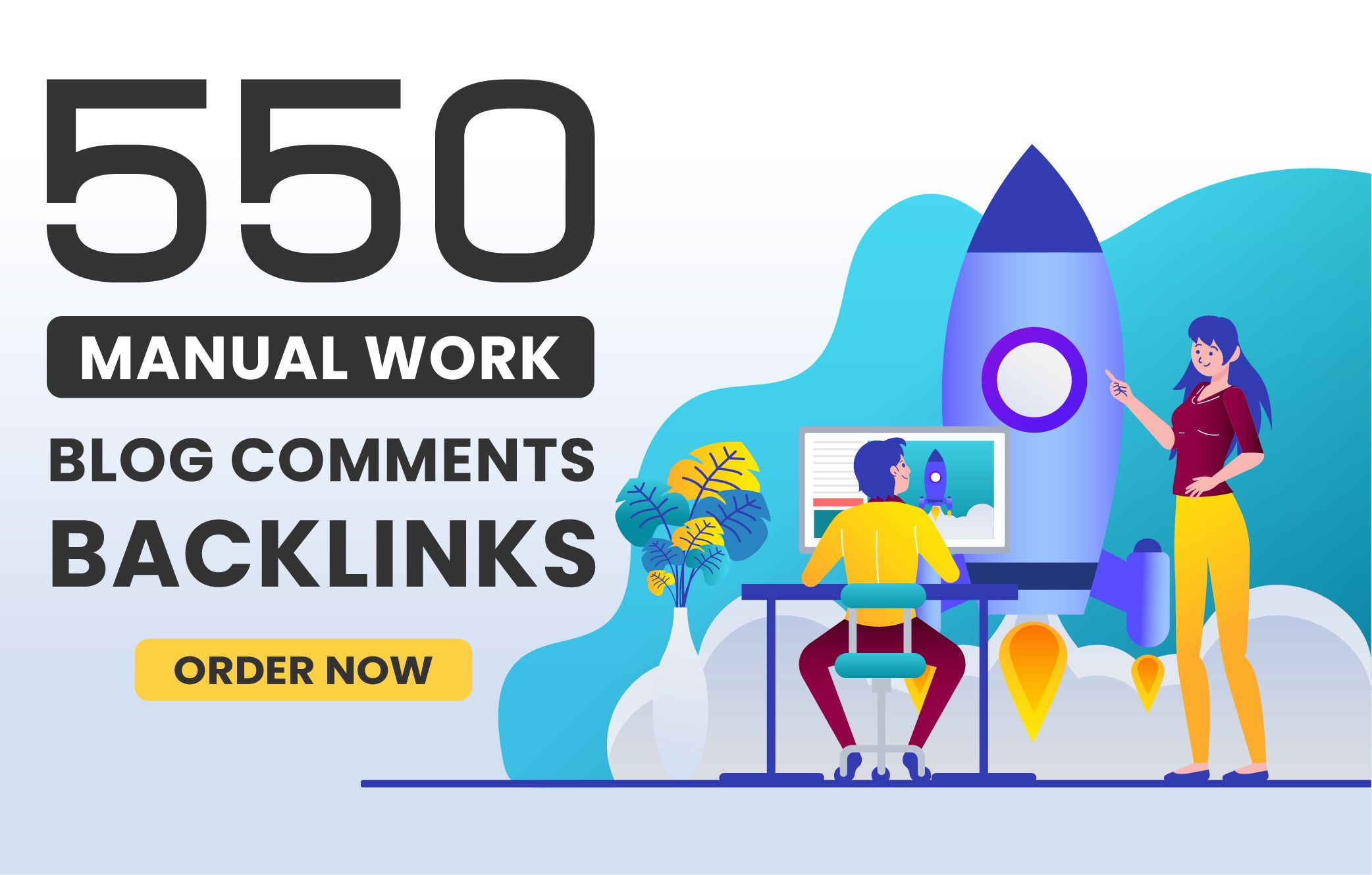 I will provide 550 blog comment with high da pa