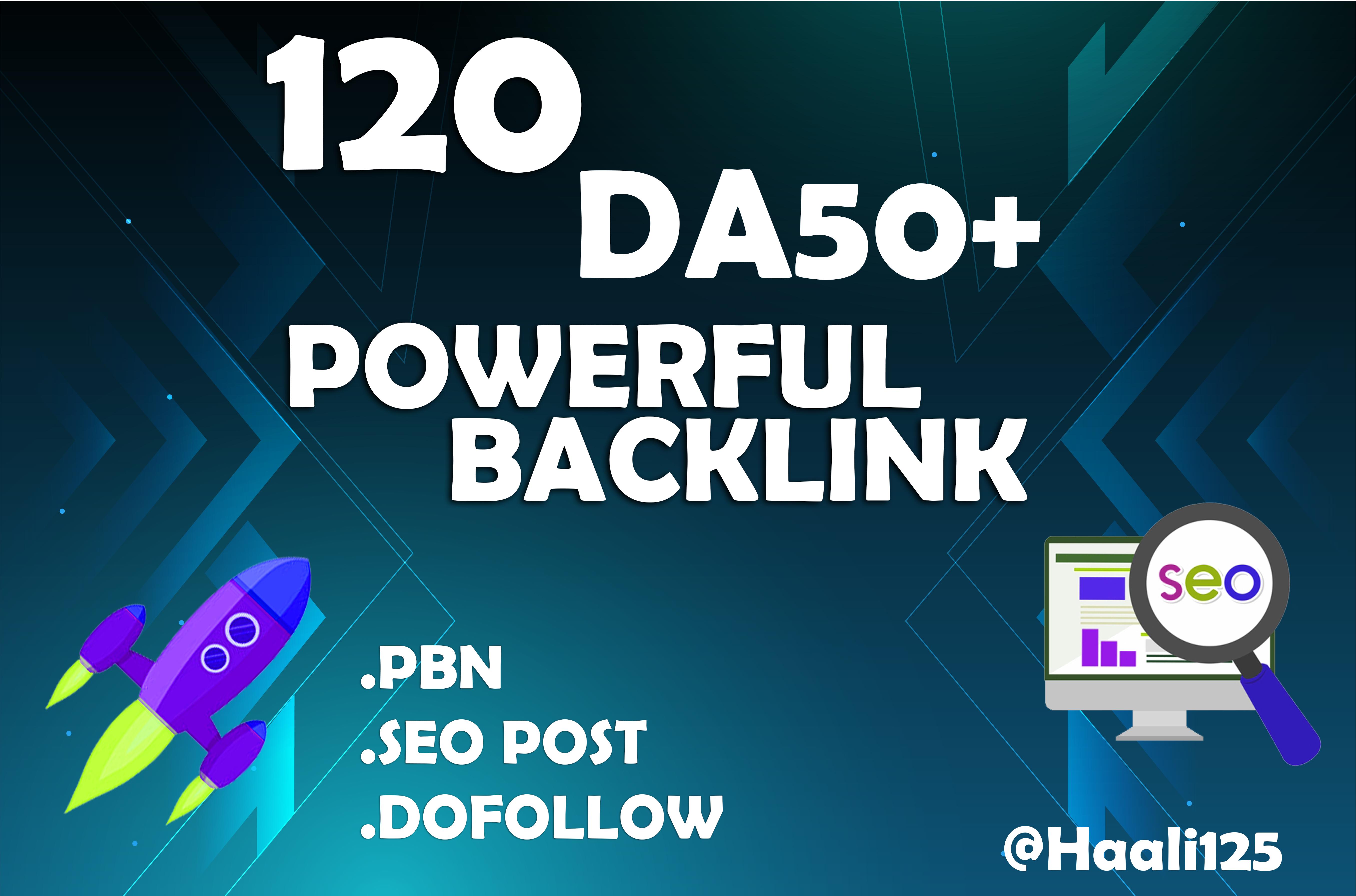 I will create seo 120 PBN homepage Permanent Backlink with DA50+
