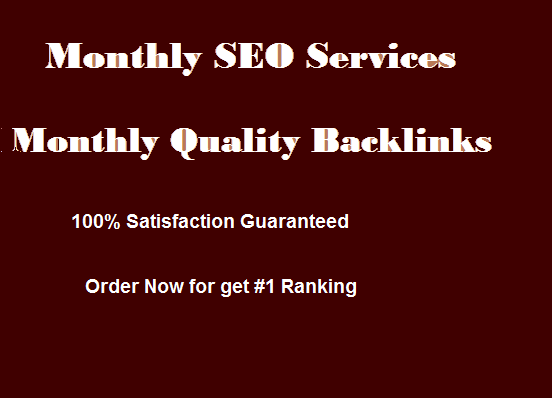 I will do monthly SEO maintenance monthly backlink of your website to get ranking