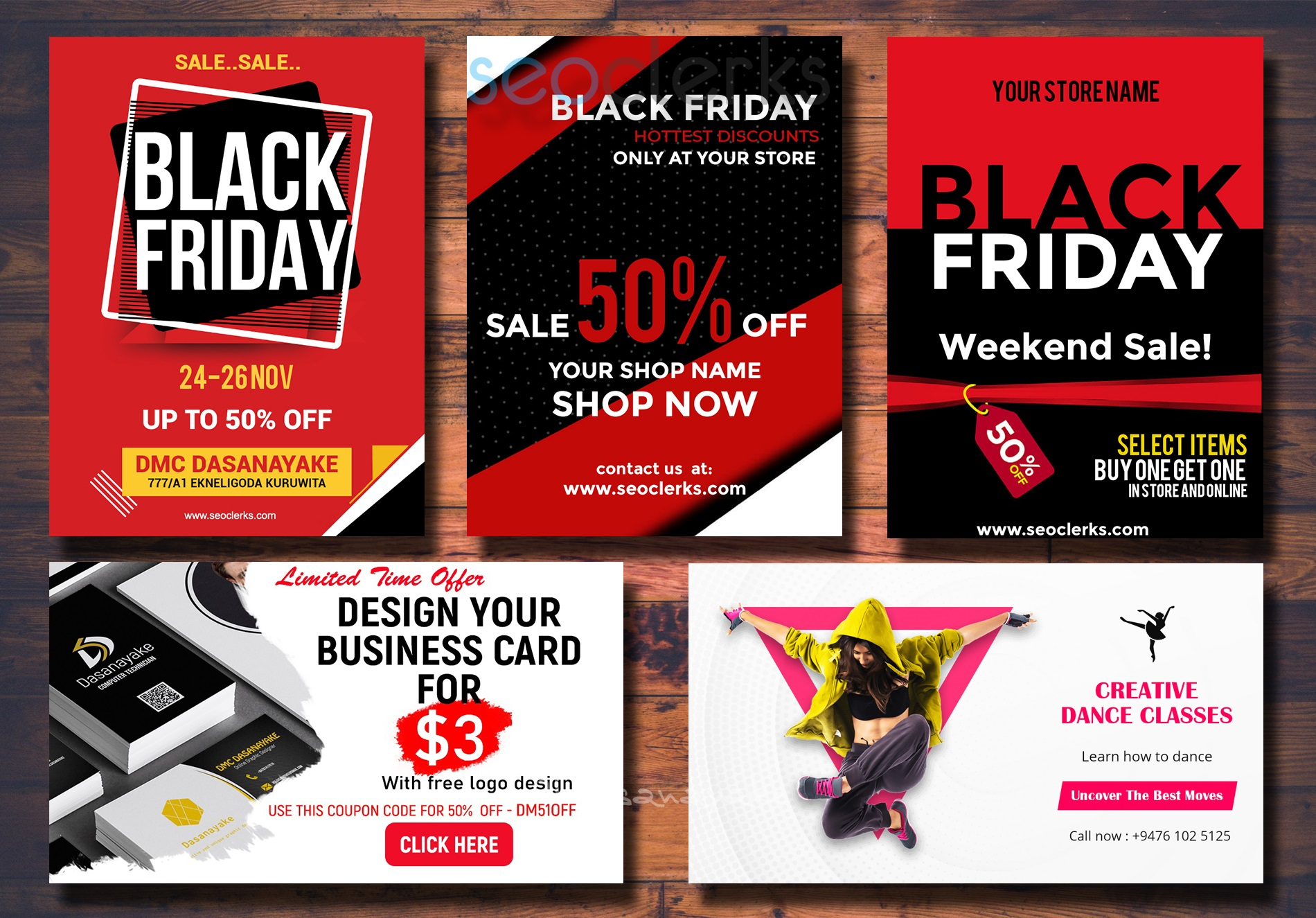 I will design web and printable post flyer brochure. social media post Black Friday , Christmas