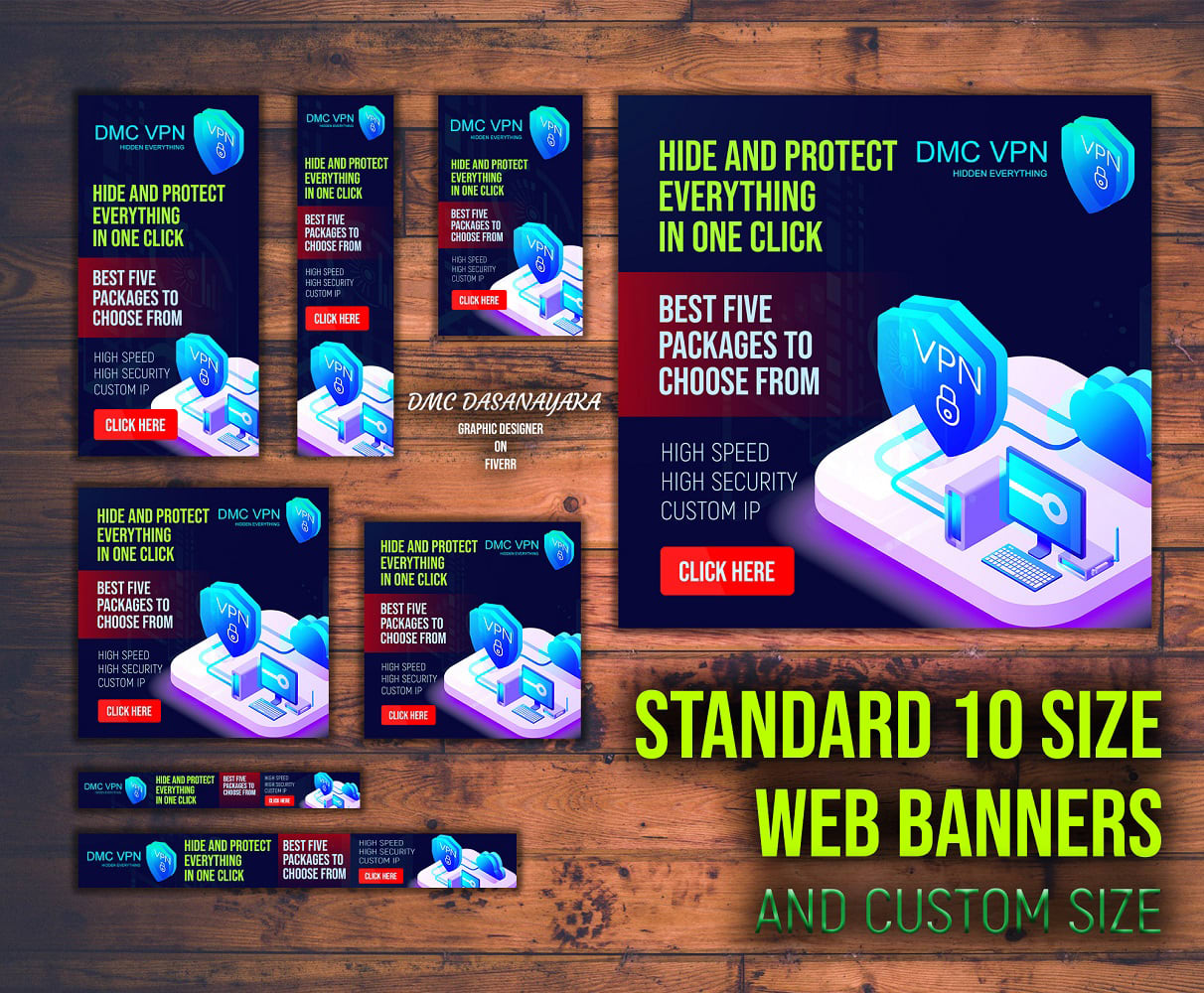 I will design creative and professional banner ads