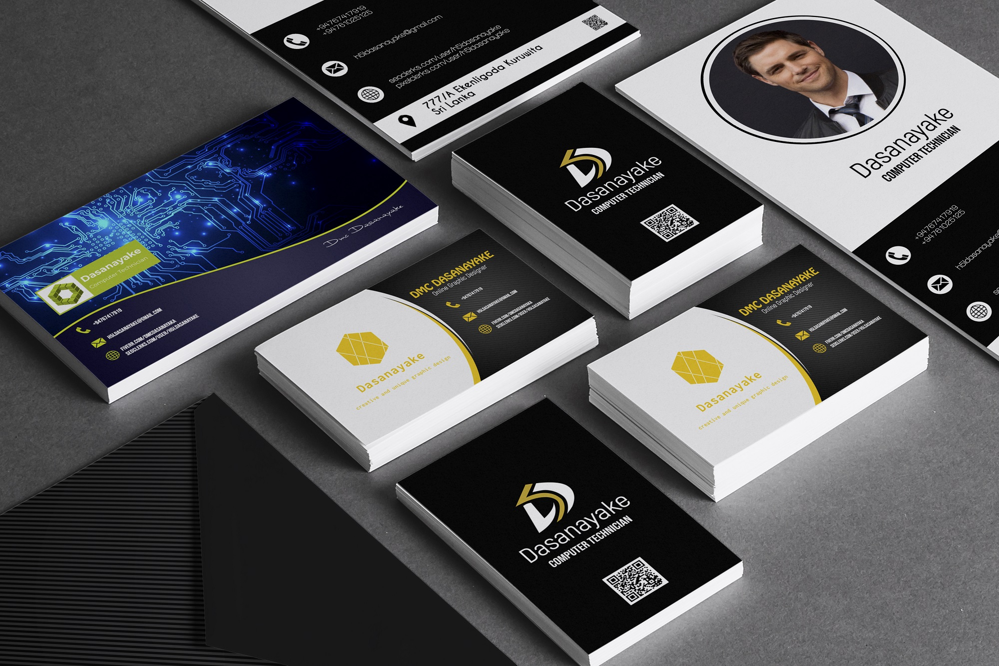 I will design professional business card with logo design