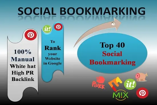Manually Create 40 PR10 Social Bookmarking Backlinks