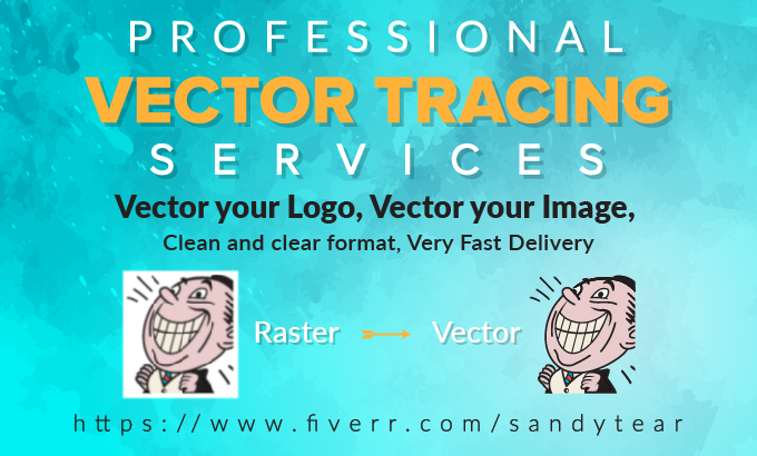 I will convert image into vector,  redraw the logo