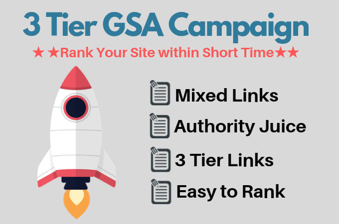 I will provide 3 tier gsa backlinks with niche relevant content to rank higher
