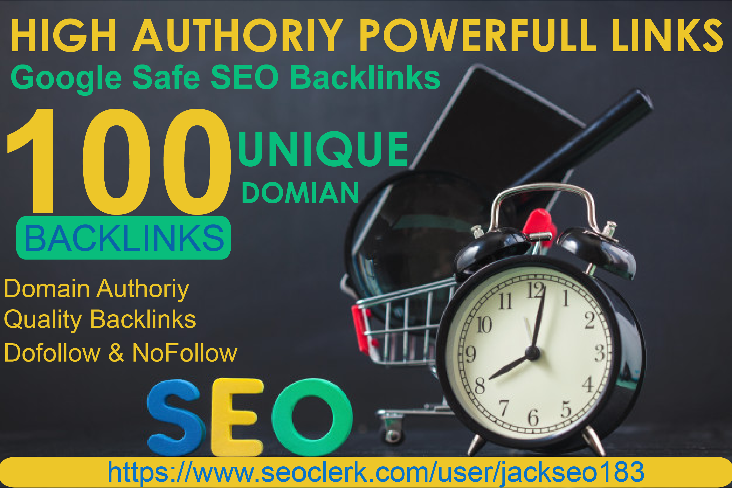 I will create 100 Unique Domain SEO backlinks, link building