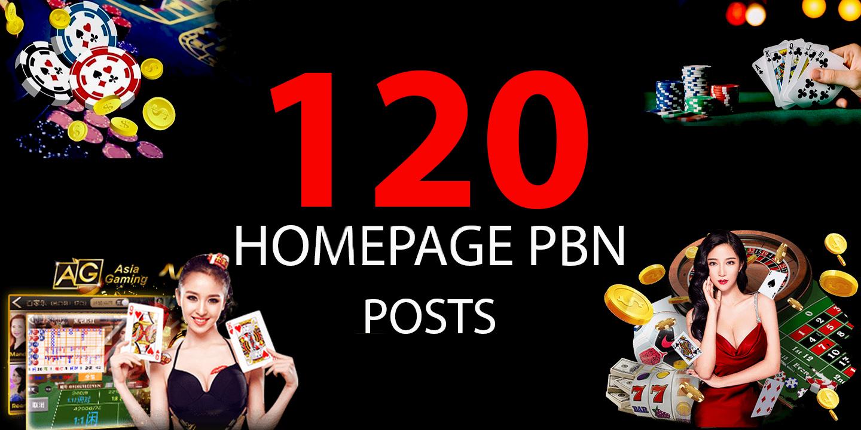 Build 120 , Agen Judi Bola, Poker, Gambling, Casino, Sports & Betting Related Dofollow PBN Backlinks