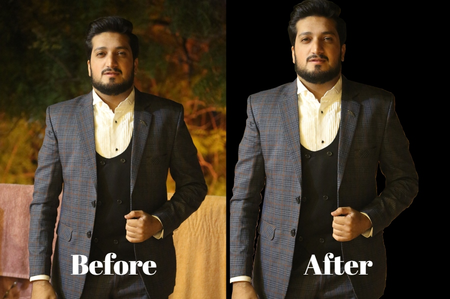 I will professionally change or remove background of two pics