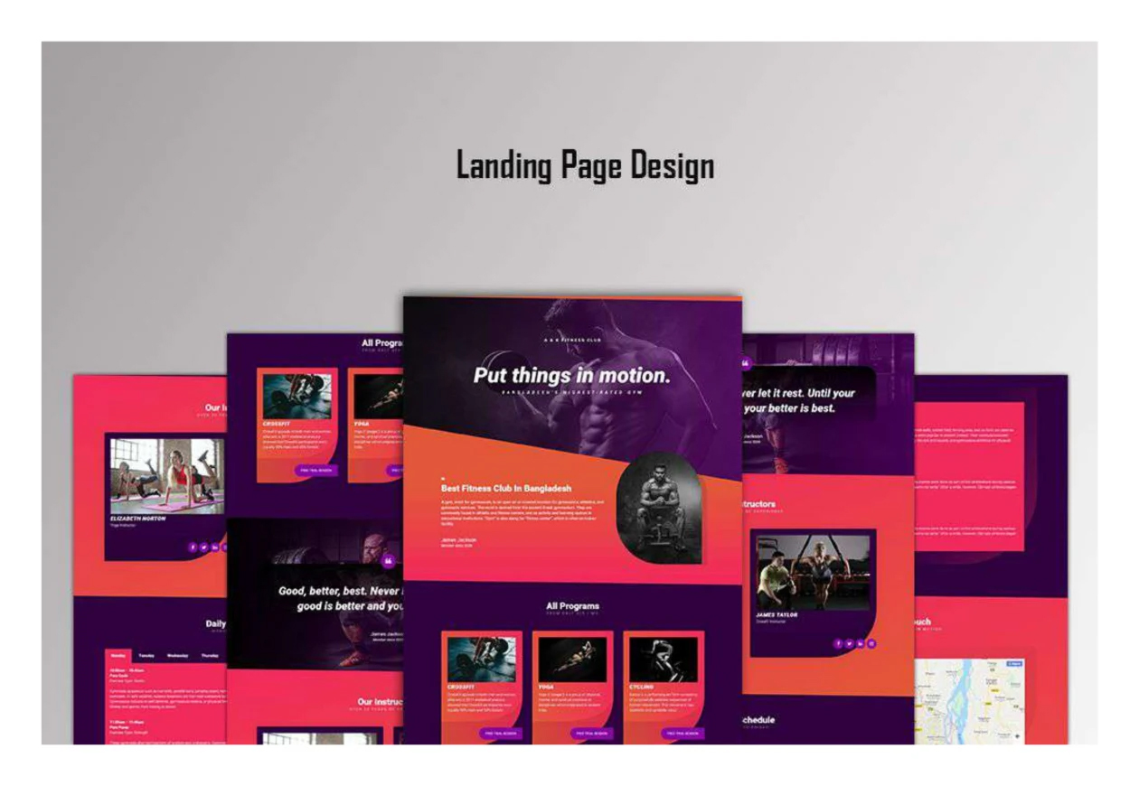 I will create stunning landing page design.