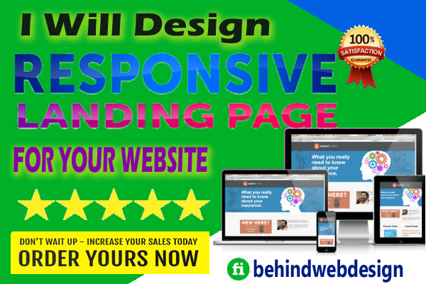 I will design responsive landing page for your website