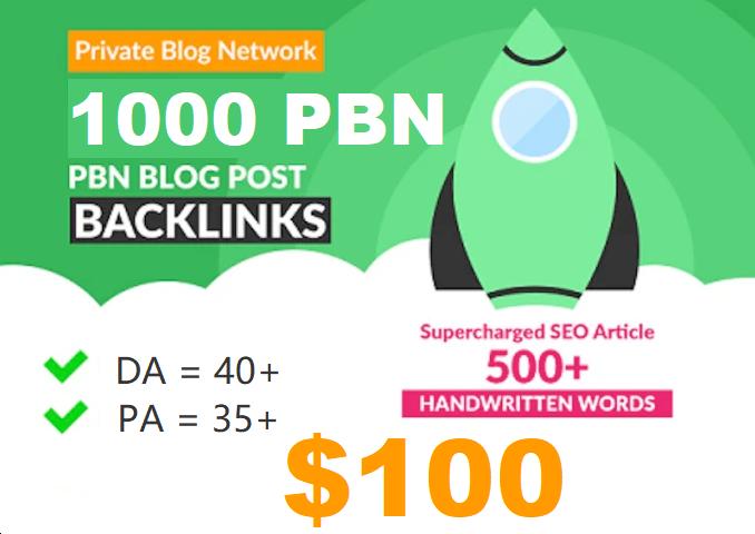 Homepage web 2.0 1000 Permanent PBN links DA 40+ PA 40+