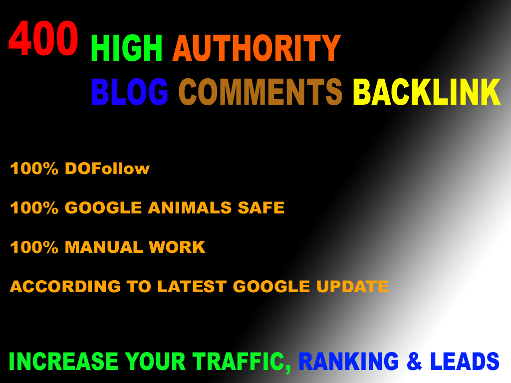 create 400 high DA/PA blog comments backlinks website rank