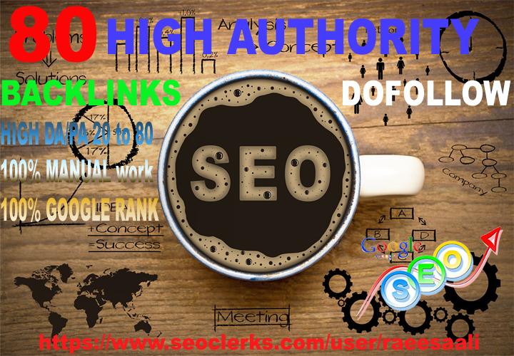 provide high authority SEO dofollow manual backlinks