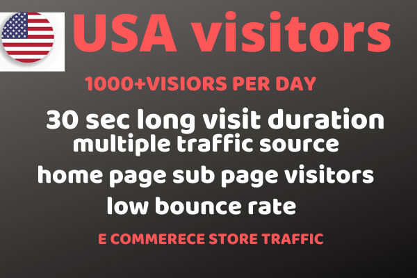 i will generate a high quality organic web traffic for e commerce stores
