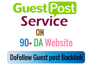I can write and publish 3 Guest post Backlinks on 90+ DA websites.