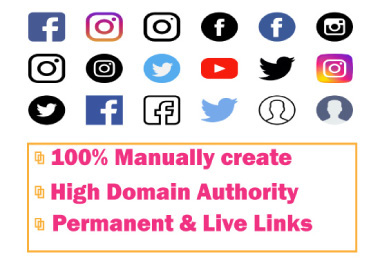 I will Do High Quality 100 Social Profile Creation SEO Backlinks