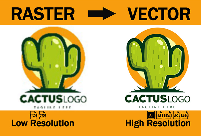 I will vector tracing,  vectorise logo or convert png jpeg to vector