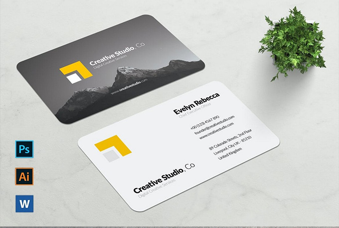 I will design an amazing minimalist business card for you