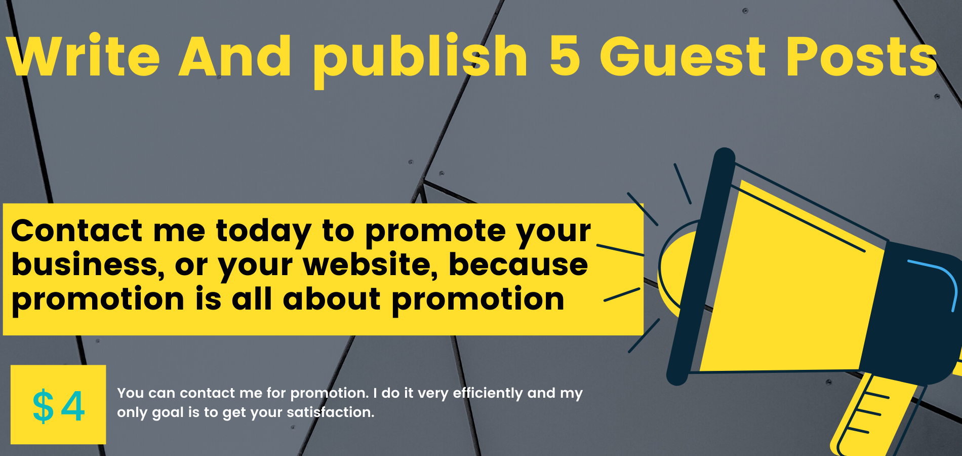 Write and publish 5 Guest posts in high Quality Website
