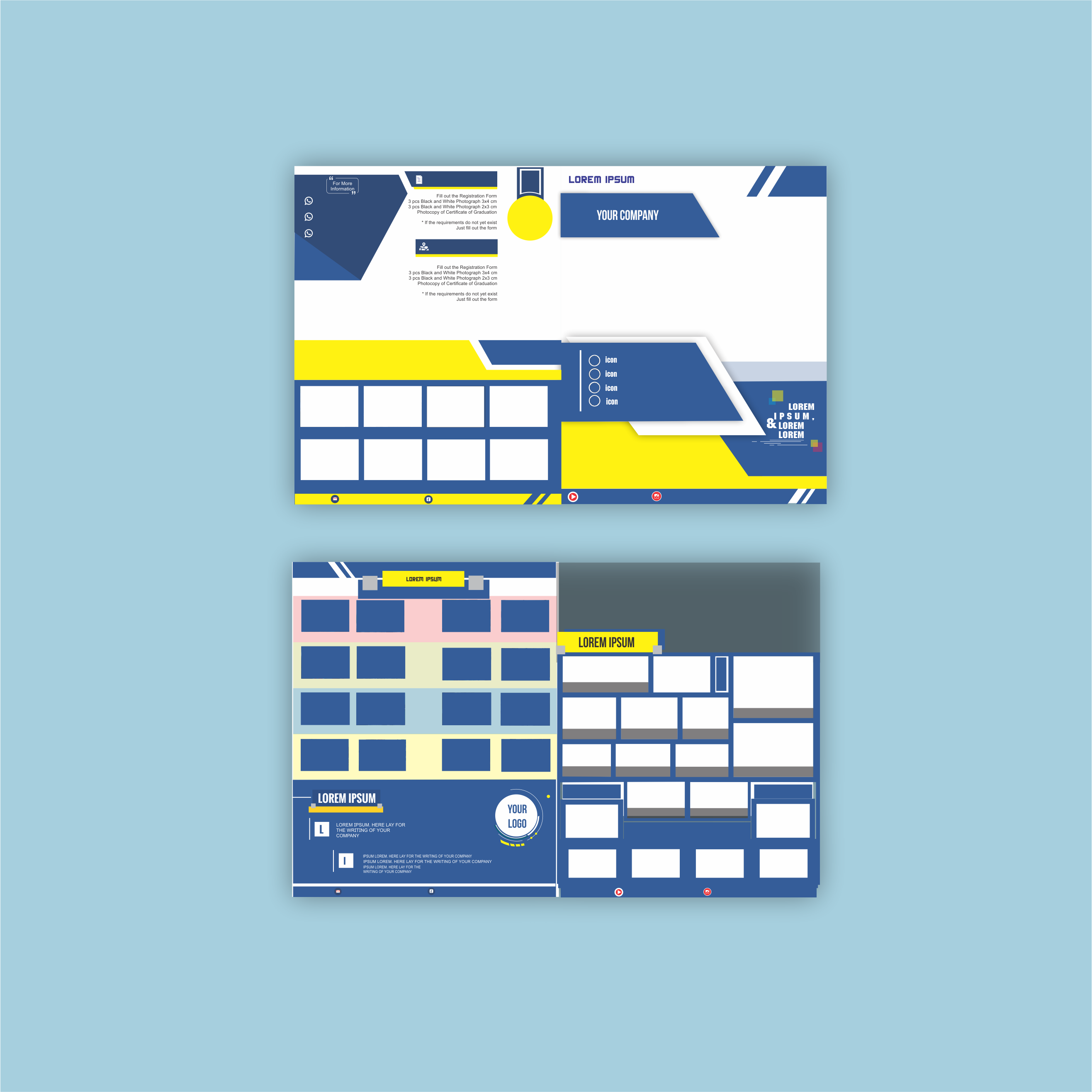 attractive simple and neat brochure design for you