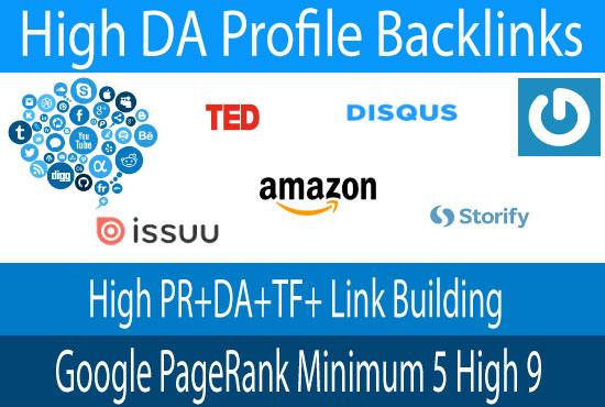 I will make 100 high PR DA dofollow backlinks
