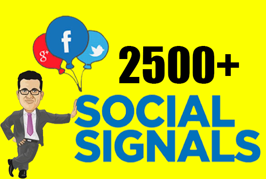 Best Google Rank 2500+ HQ SEO Social Signals