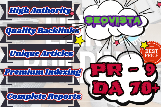create 10 high da and high PR backlinks to boost your website rankings