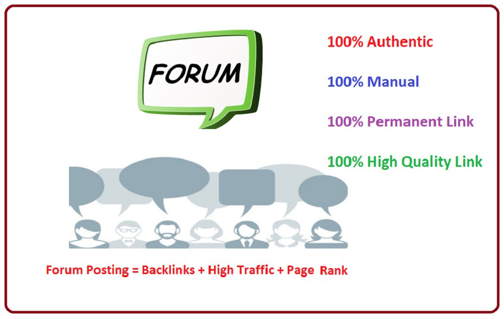 Best Quality 40 Forum Posting Backlinks