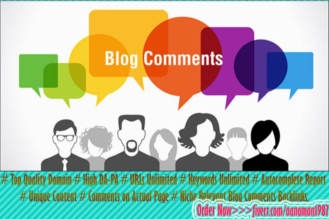 Do High Quality 30 Blog Comments Backlinks by Manually