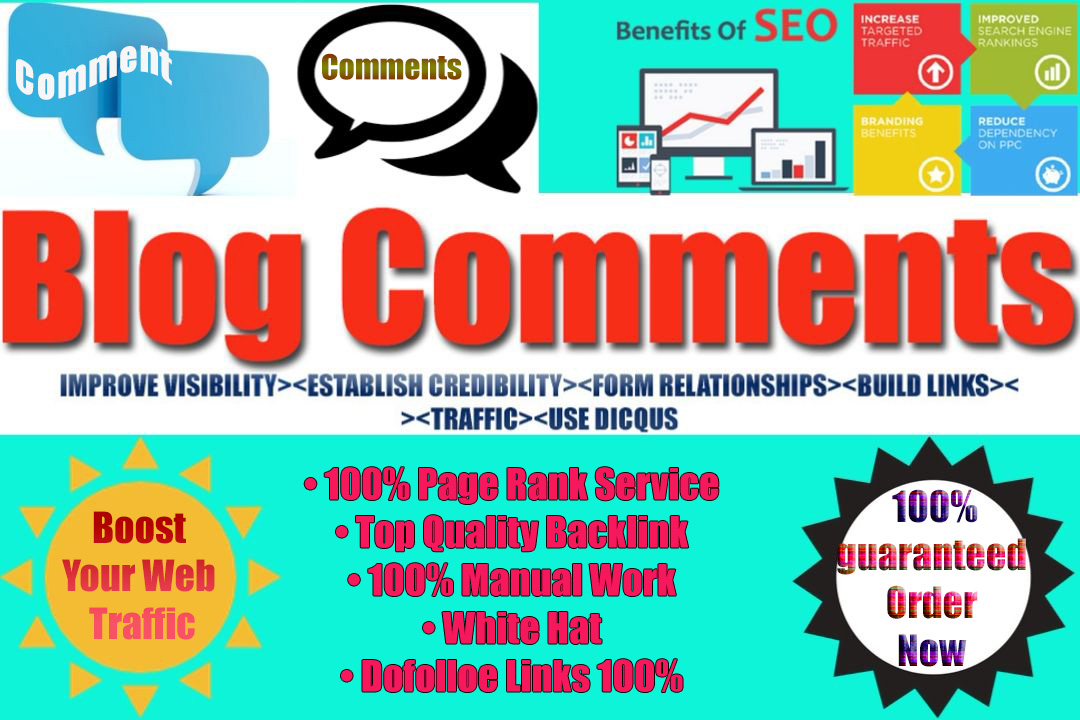 Do High Quality 100 Blog Comments Backlinks by Manually