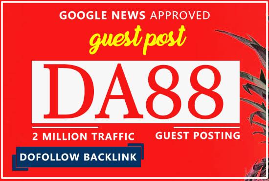 I will Backlink on da 88 google news site with permanent backlink