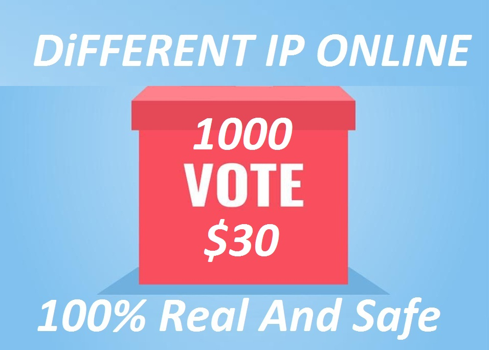 I can Provide 1000 USA Different IP,  s Online contest Votes