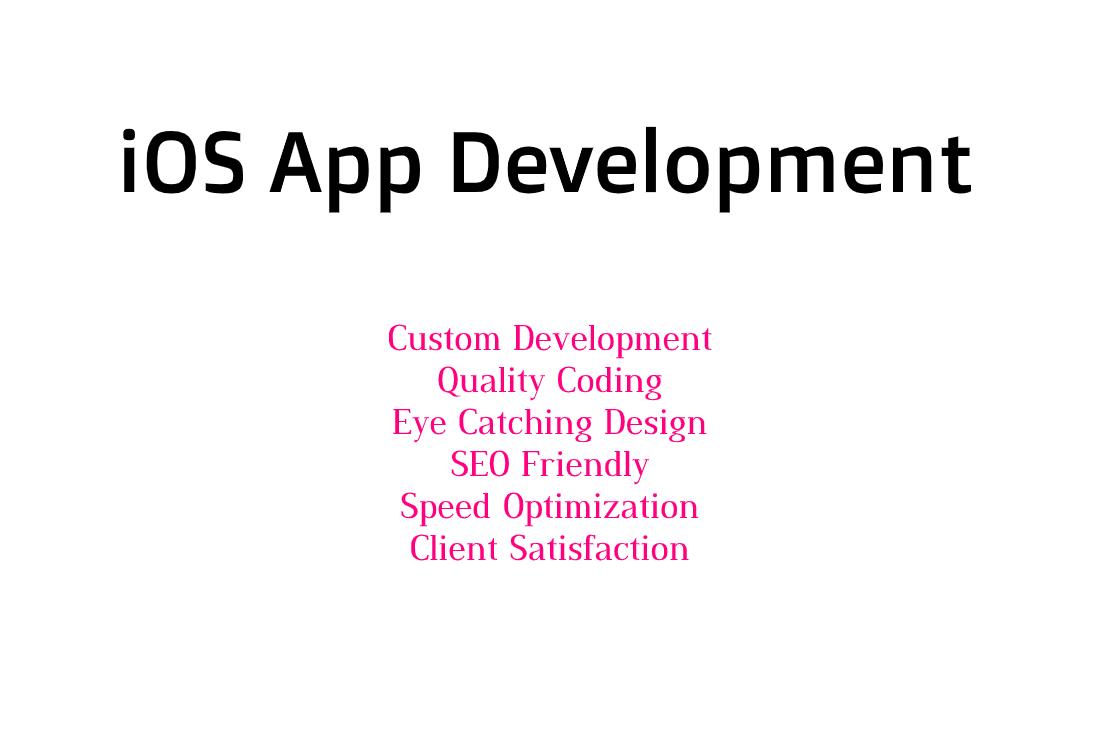 I will make a custom iOS App Development