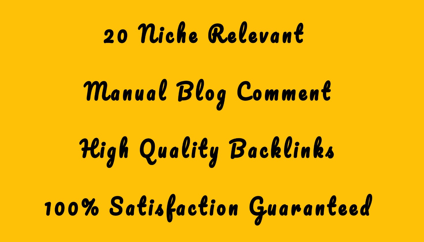 20 High Quality Niche Relevant Blog comments Seo Backlinks