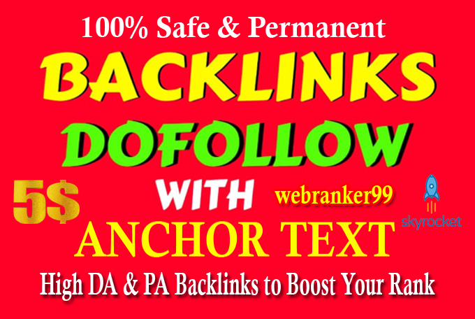 Manually Create 50+ DOFOLLOW PR,  High DA PA 50 to 95 Highly Authorized Google Dominating Backlinks