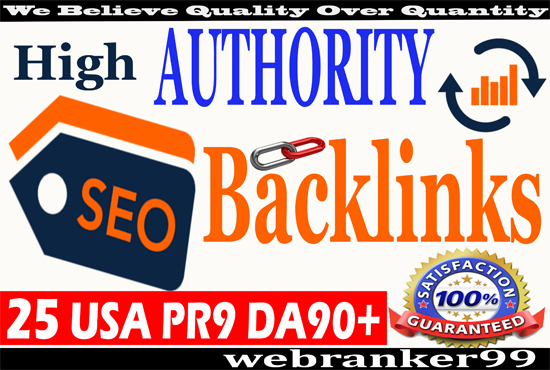 I will improve your website ranking on google with 25 PR9 DA90+ High Authority SEO Backlinks