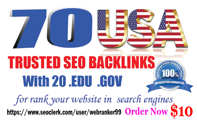 I will Top rank your website with 50 USA Pr9 & 20 Edu. Gov High-quality link building Seo Backlinks