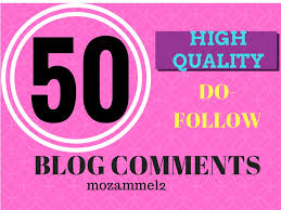 i will provide 50 blog comments
