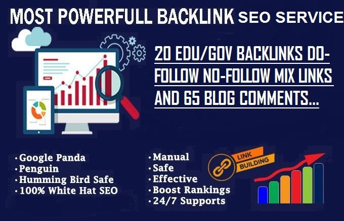 I will do high authority 65 blog comments with 20 edu gov backlinks