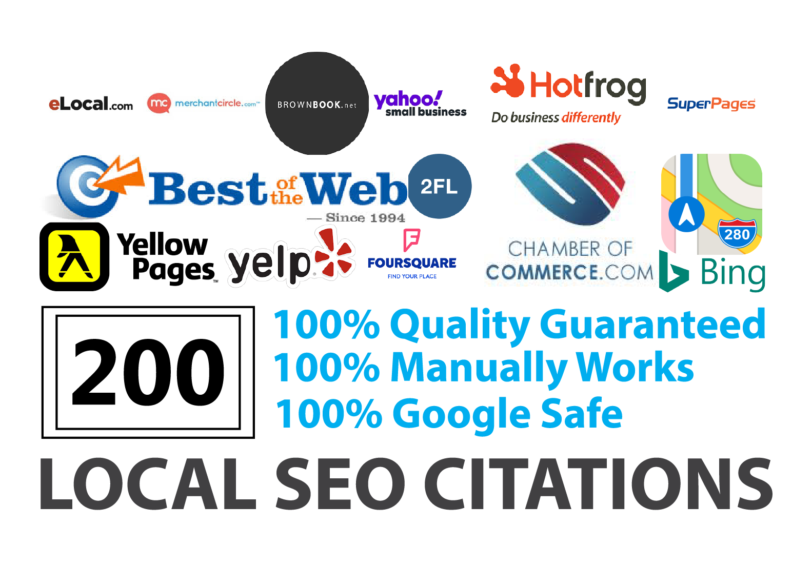 Build Top 200 Local SEO Citations For UK,  AU,  CA,  USA To Boost Your Local SEO Ranking