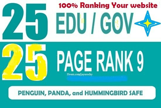 Add builds 25 edus and 25 pr9 real SEO backlinks