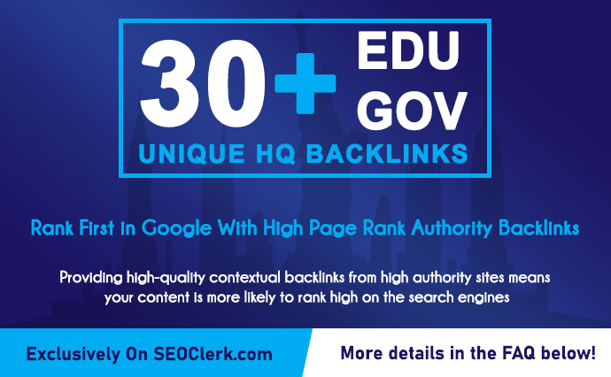 30 Edu GOV Authority Backlinks to Rank up your websites