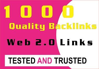 I will Expertly Provide 1000 High quality web 2 backlinks