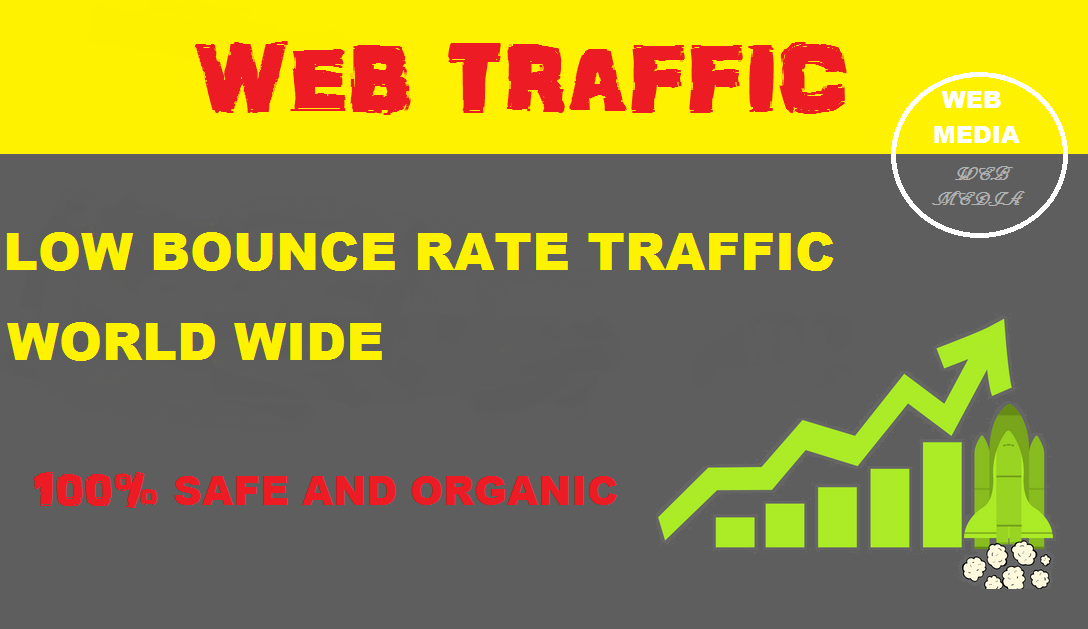 Drive Low Bounce Rate World Wide Traffic to your Website