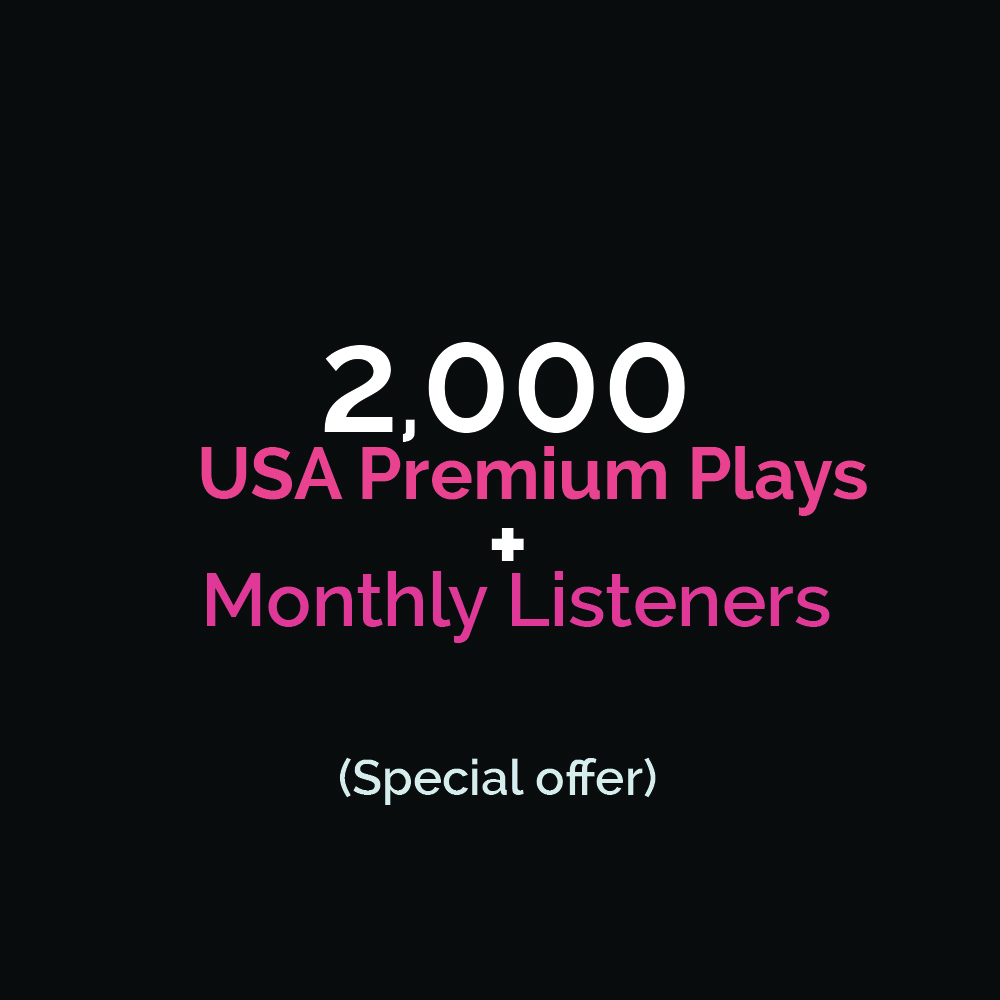 Organic 2000 HQ Premium Streams + Monthly Listeners Special Offer