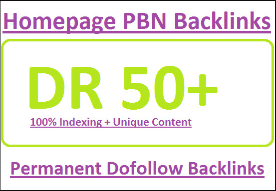 provide 3 permanent DR 50 plus pbn backlinks