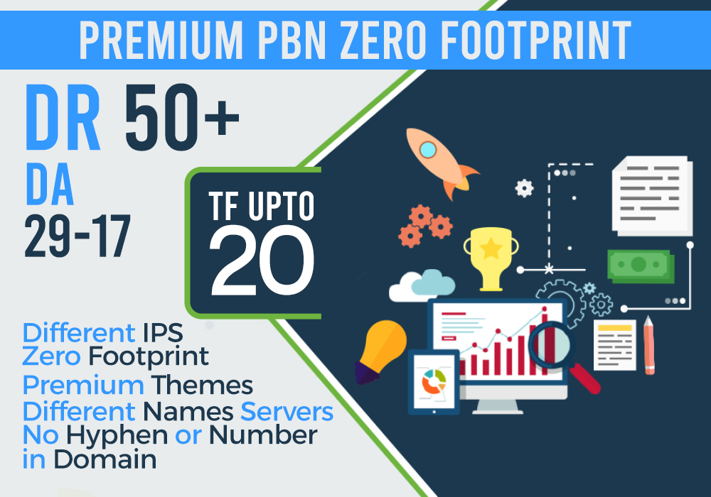 create 10 high dr50 da20 tf20 pbn homepage pbn backlinks